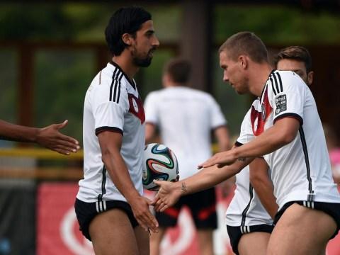 Lukas Podolski really wants Germany team-mate Sami Khedira to join him at Arsenal
