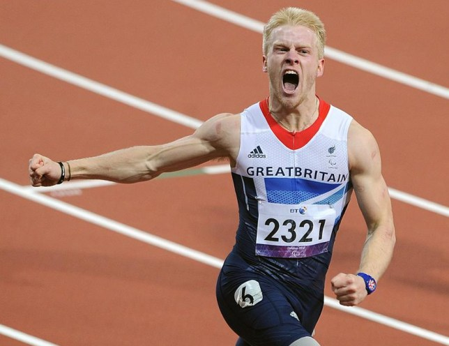 Jonnie Peacock wins Paralympic gold in 2012 (Picture: PA)
