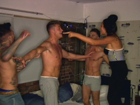 Geordie Shore season 8: Vicky Pattison is back in time for Gaz Beadle and Aaron Chalmers topless brawl