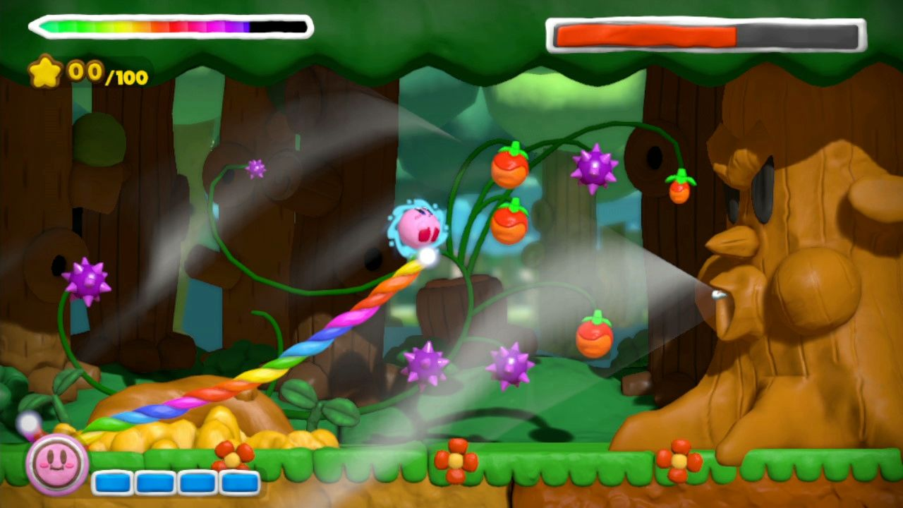 Kirby And The Rainbow Curse - not bad for a pink puffball