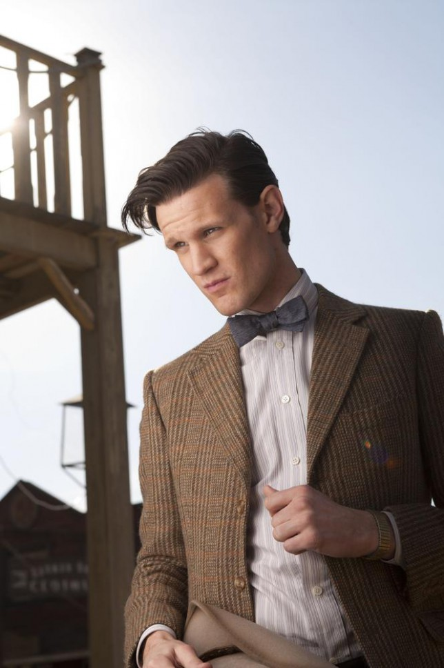 """A 2012 handout photo made available by the BBC from an episode of """"Doctor Who"""" showing Matt Smith as The Eleventh Doctor. """"Doctor Who"""" is turning 50 and the BBC is throwing a broadcasting blowout for the sci-fi show, which began with little fanfare and few expectations on Nov. 23, 1963 but is now one of its biggest hits and major exports. (AP Photo/BBC, Adrian Rogers) AP Photo/BBC, Adrian Rogers"""