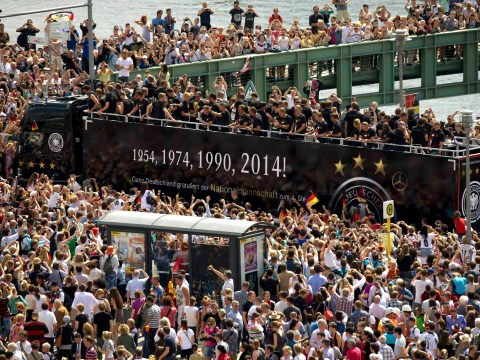 Germany's World Cup winning squad return home to INCREDIBLE scenes