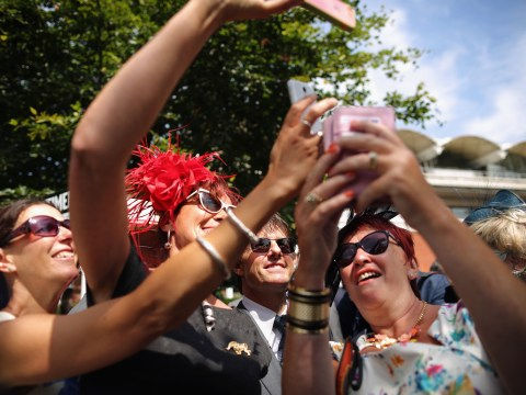 Ladies rush to get selfies with Tom Cruise at Glorious Goodwood Ladies day 2014