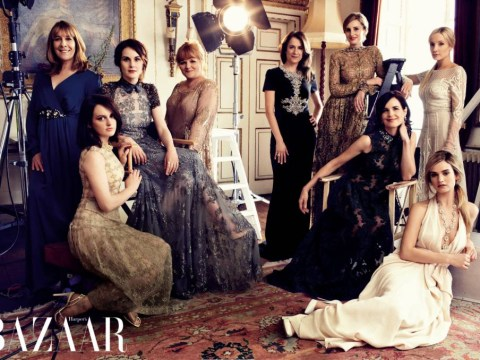 The Downton Abbey sisterhood goes upmarket for glamorous Harper's Bazaar shoot