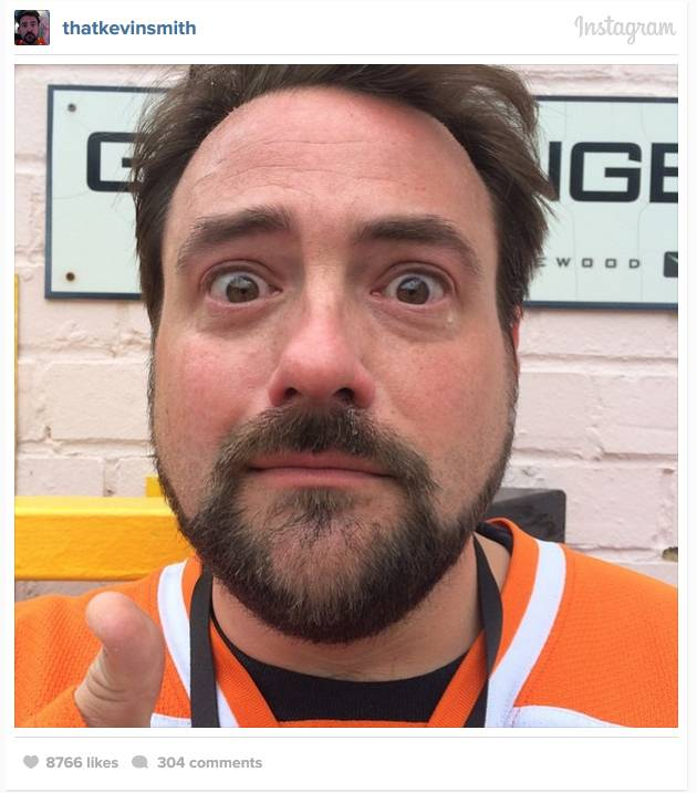Clerks director Kevin Smith visited the set of Star Wars 7 – and got a bit over-emotional