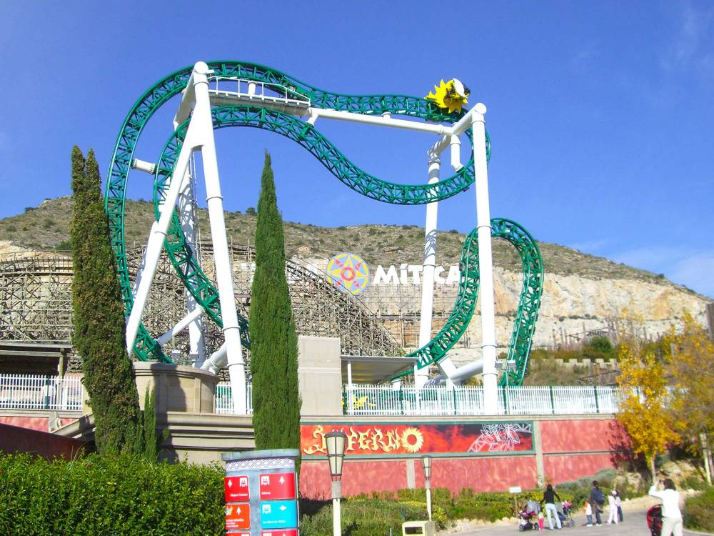 British' teenager dies after falling from the Inferno rollercoaster at the Terra Mitica in Benidorm Source: Wikipedia