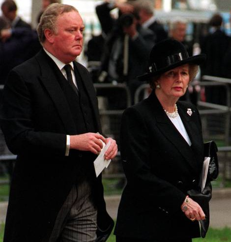 Margaret Thatcher and Sir Peter Morrison