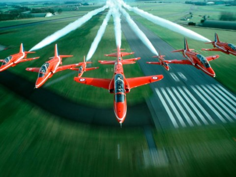 Red Arrows celebrate 50th Anniversary at Royal International Air Tattoo 2014