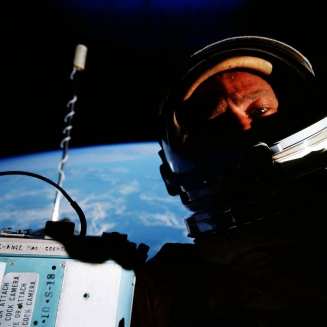 Image result for buzz aldrin first selfie small image