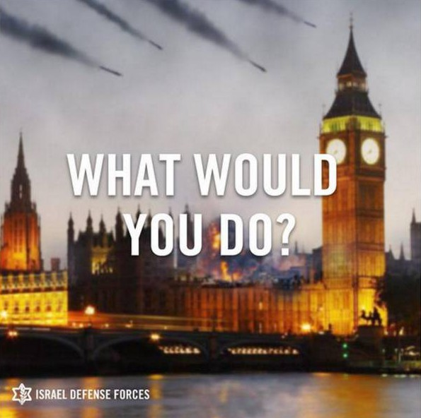 Israel asks London: What would you do if you were under attack?