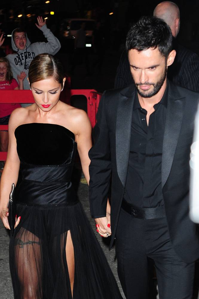 ALTERNATIVE CROP. Cheryl Cole arrives with her husband Jean-Bernard Fernandez-Versini at a party at The Library in London. PRESS ASSOCIATION Photo. Picture date: Monday July 21, 2014.  Photo credit should read: Ian West/PA Wire