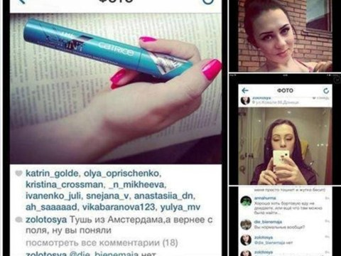 Ukrainian causes social media storm by 'posing in make-up looted from Malaysian Airlines crash site'