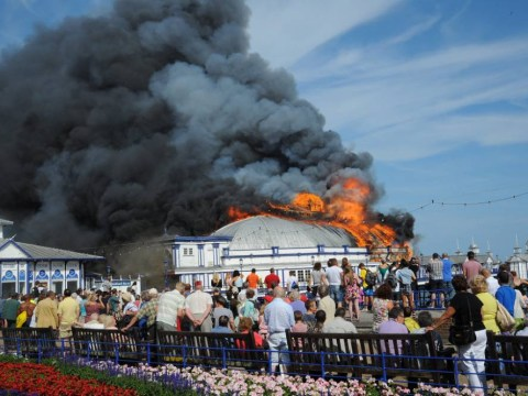 Pictures: Eastbourne Pier fire