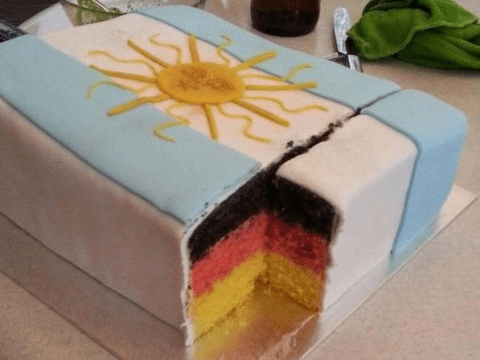 This epic World Cup final celebration cake is deliciously evil…