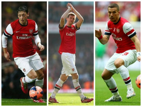 Arsenal trio Mesut Ozil, Per Mertesacker and Lukas Podolski to miss start of season after World Cup success