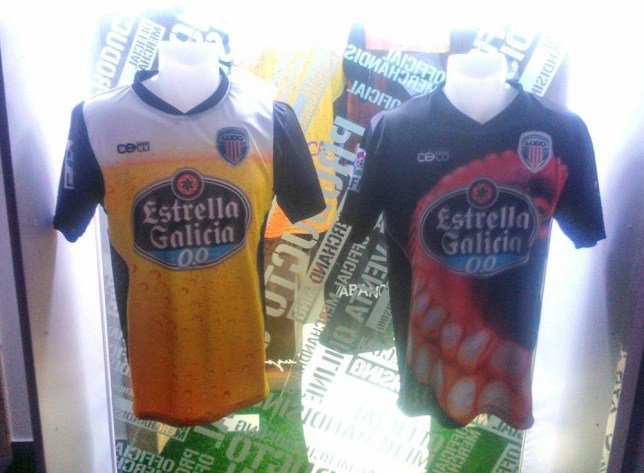 Club Deportivo Lugo have released some eye-catching new kits (Picture: Twitter/@CDLU_Store)