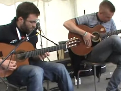 Everyone should listen to this incredible acoustic Daft Punk medley by The Showhawk Duo