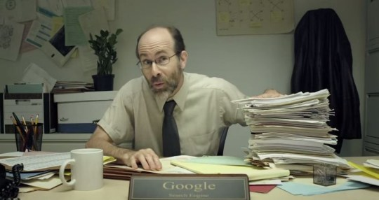 This is Google as a guy (Picture: YouTube)