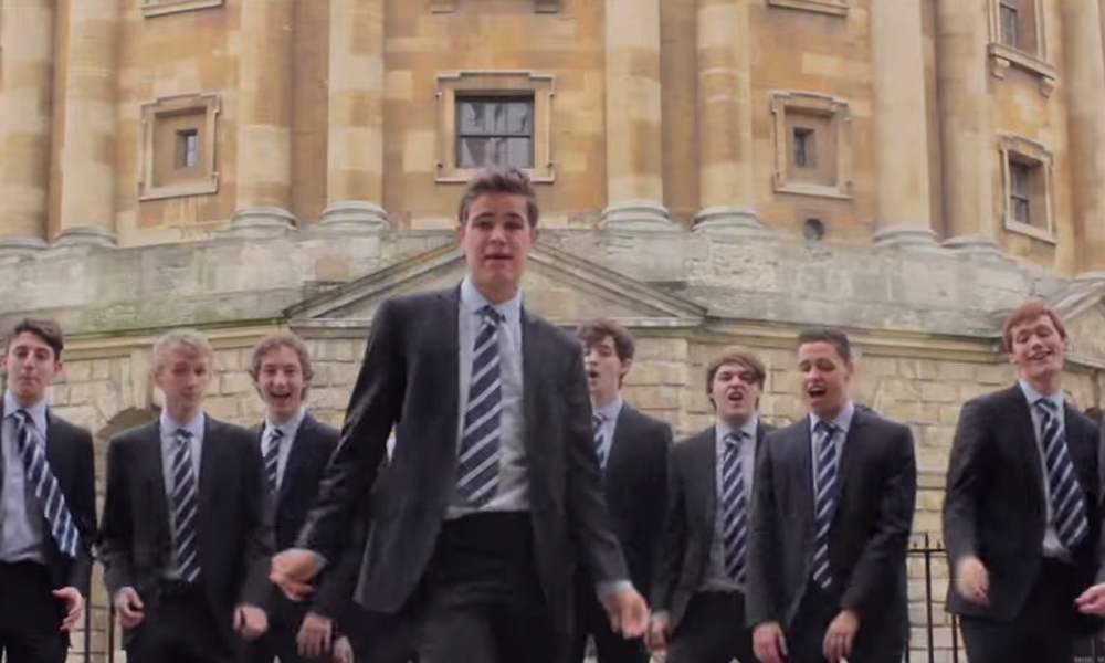 This Oxford students' choir cover version of Shakira's Hips Don't Lie is strangely awesome