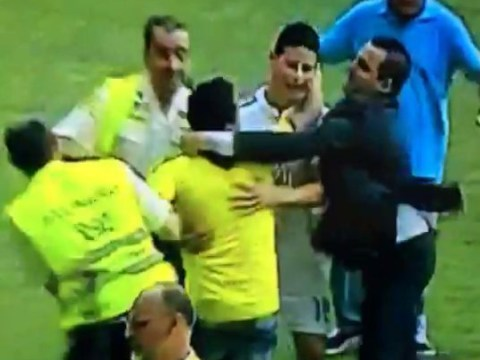 James Rodriguez is already a Real Madrid legend after superbly rescuing pitch invader