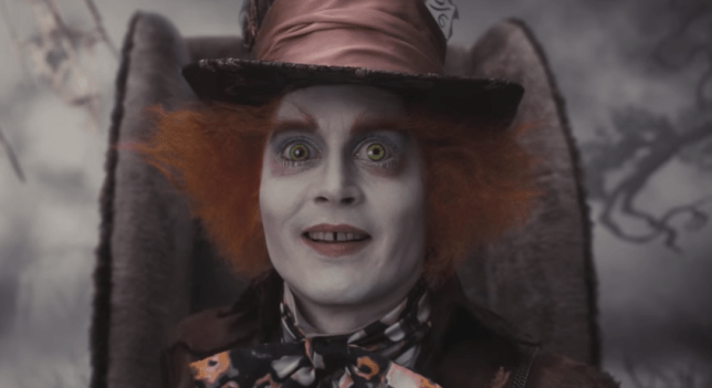 Johnny Depp Mad Hatter Alice In Wonderland (Picture: YouTube)