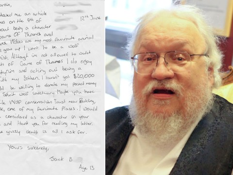 George R R Martin makes young Game Of Thrones fan's day with awesome letter
