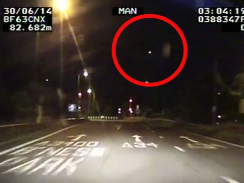 Mammoth meteorite caught on police camera