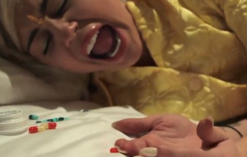 Miley Cyrus stars in Flaming Lips and Moby video Blonde SuperFreak Steals the Magic Brain