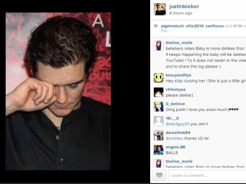 Justin Bieber angers the world (again) after posting picture of Orlando Bloom CRYING on Instagram