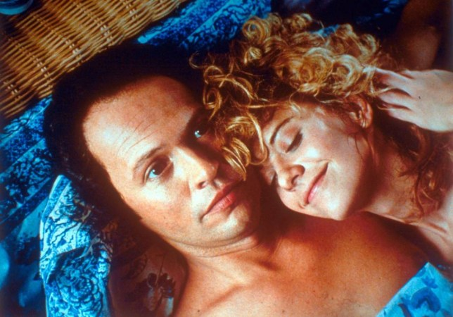 Film: When Harry Met Sally (1989). Meg Ryan and Billy Crystal.     Licensed by CHANNEL 5 BROADCASTING. Five Stills: 0207 550 5509.  Free for editorial press and listings use in connection with the current broadcast of Channel 5 programmes only.  This Image may only be reproduced with the prior written consent of Channel 5.  Not for any form of advertising, internet use or in connection with the sale of any product.