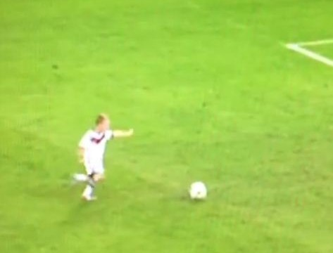 Lukas Podolski has brilliant penalty moment with young son after Germany's World Cup victory over Argentina