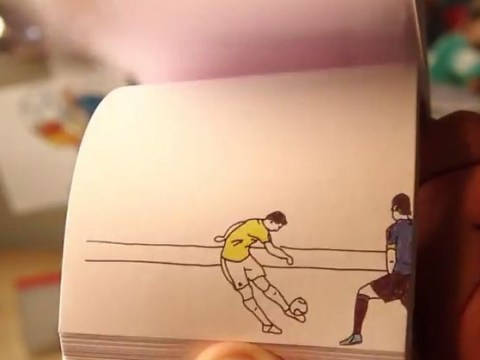 World Cup's best goals from Robin van Persie, Tim Cahill and James Rodriguez recreated in amazing flipbook form