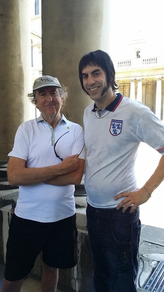 Sacha Baron Cohen's latest weird look revealed (thanks to a tweet from Monty Python's Eric Idle)