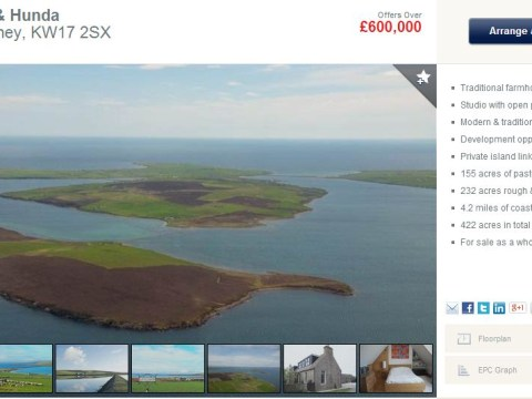 You can now have your own private island – and a five-bedroom house – for £600k (that's the price of a London flat)