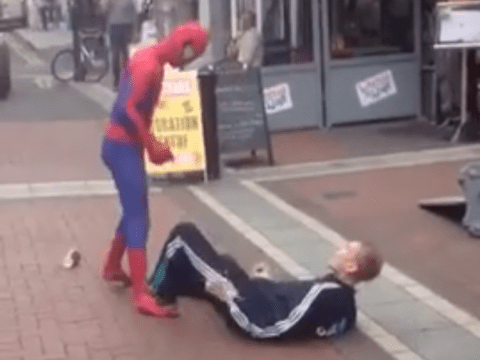 A real life Spiderman is in Dublin, where he's taking on the city's villains