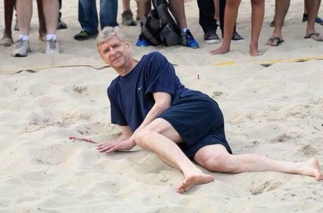 Arsene Wenger has been sunning himself in Brazil (Picture: Twitter)