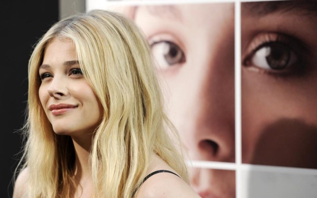 """Chloe Grace Moretz, a cast member in """"If I Stay,"""" poses at the premiere of the film at the TCL Chinese Theatre, Wednesday, Aug. 20, 2014, in Los Angeles. (Photo by Chris Pizzello/Invision/AP) Chris Pizzello/Invision/AP"""