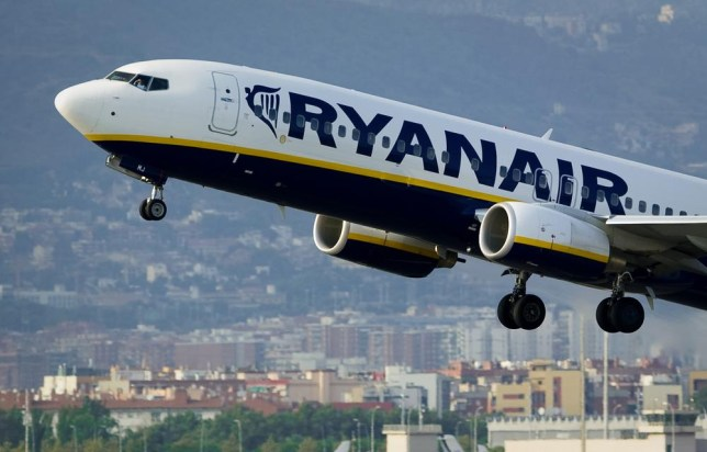 (FILES) In this file picture taken on September 1, 2010 an airplane of the Irish low-cost airline Ryanair takes off from Barcelona's airport. Low cost Irish airline Ryanair announced on February 3, 2014 that it made a loss of GBP £28.8m (34.8m euro, $47m USD ) in the final quarter of 2013. AFP PHOTO / JOSEP LAGO JOSEP LAGO/AFP/Getty Images