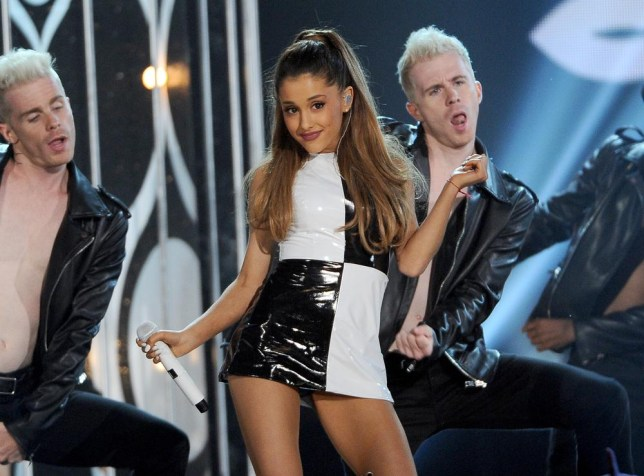 "Ariana Grande performs at the Billboard Music Awards at the MGM Grand Garden Arena, in Las Vegas. Grande is having a breakthrough in music with the multiplatinum hit ""Problem,"" which is spending its 13th week in the top 10 on the Billboard Hot 100 chart. The song features rapper Iggy Azalea and is from Grande's sophomore album, ""My Everything,"" to be released Aug. 25, 2014. (Photo by Chris Pizzello/Invision/AP, file)"