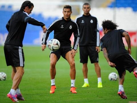 Gareth Bale and Cristiano Ronaldo show off silky skills in Cardiff ahead of Super Cup
