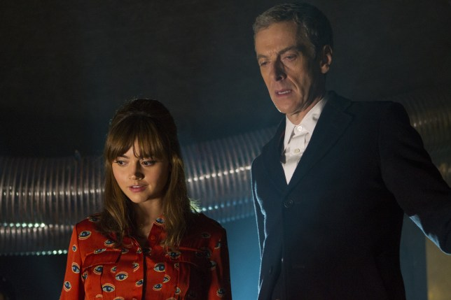 Peter Capaldi and Jenna Colman in Doctor Who season 8, episode 1, Into The Dalek