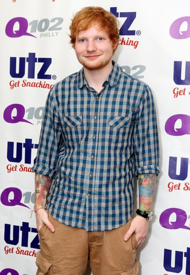 Singer-songwriter Ed Sheeran visits the radio Q102 Performance Theater on Friday, July 4, 2014, in Philadelphia. (Photo by Owen Sweeney/Invision/AP) Owen Sweeney/Invision/AP