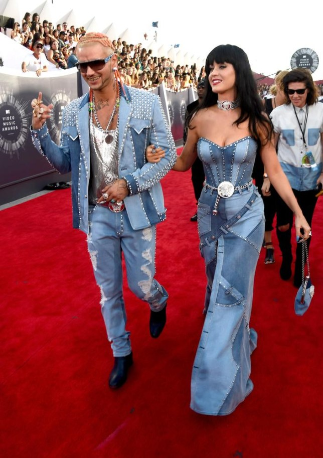 INGLEWOOD, CA - AUGUST 24: Recording artists Riff Raff (L) and Katy Perry attend the 2014 MTV Video Music Awards at The Forum on August 24, 2014 in Inglewood, California. Frazer Harrison/Getty Images