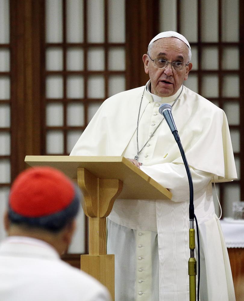 Pope Francis' Christmas message was particularly damning (AP Photo/Gregorio Borgia) AP Photo/Gregorio Borgia