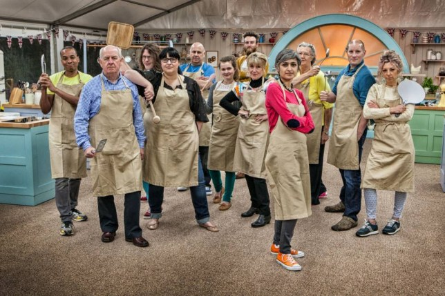 For use in UK, Ireland or Benelux countries only. Undated BBC handout photo of the twelve contestants who will be taking part in the fifth series of The Great British Bake Off which will air on BBC1 next month. PRESS ASSOCIATION Photo. Issue date: Tuesday July 29, 2014. See PA story SHOWBIZ Bake. Photo credit should read: Mark Bourdillon/BBC/PA Wire WARNING: Use of this copyright image is subject to the terms of use of BBC Pictures' Digital Picture Service (BBC Pictures) as set out at www.bbcpictures.co.uk. In particular, this image may only be published by a registered User of BBC Pictures for editorial use for the purpose of publicising the relevant BBC programme, personnel or activity during the Publicity Period which ends three review weeks following the date of transmission and provided the BBC and the copyright holder in the caption are credited. For any other purpose whatsoever, including advertising and commercial, prior written approval from the copyright holder will be required.