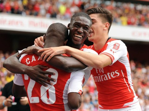 Yaya Sanogo delights Arsenal fans with impressive 30-minute hat-trick in Emirates Cup – ends with dodgy dance celebration