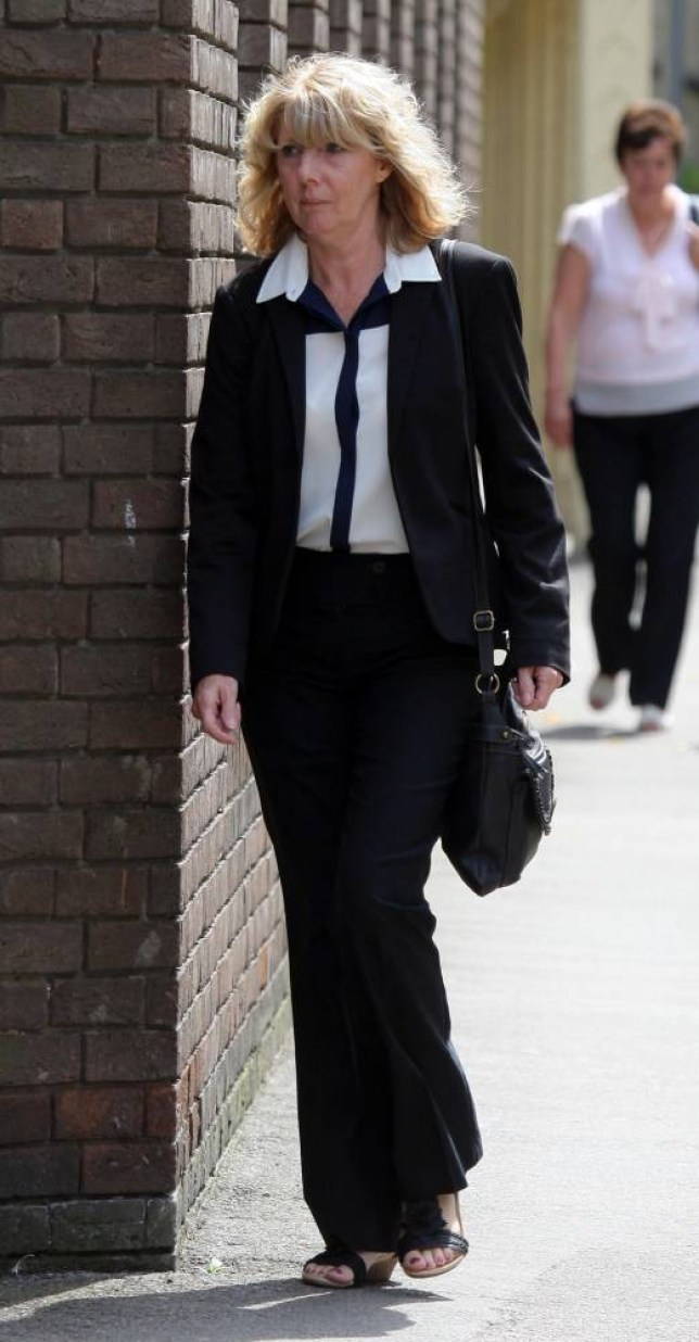 Date: August 4 2014nLocation: Clacton-on-Sea, Essex.nThe trial of a teaching assistant accused of having sex with a pupil more than 40 years younger than her is due to start today at Chelmsford Crown Court.nElaine McKay, from Clacton in Essex stands accused of engaging in a sexual relationship with a 15-year-old pupil at the school she worked in.nPictured: Elaine McKay returning to court after breaking for lunch today.