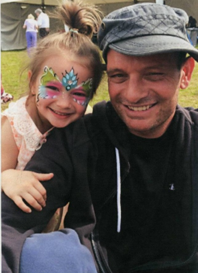 HANDOUT FROM FAMILYnRuby, five, with dad Damian Myles from Southport who has been given just months to live after finding out his  cancer was terminal
