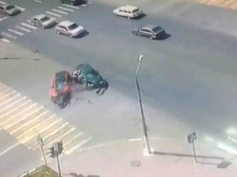 Four-year-old twins miraculously walk away from brutal car crash