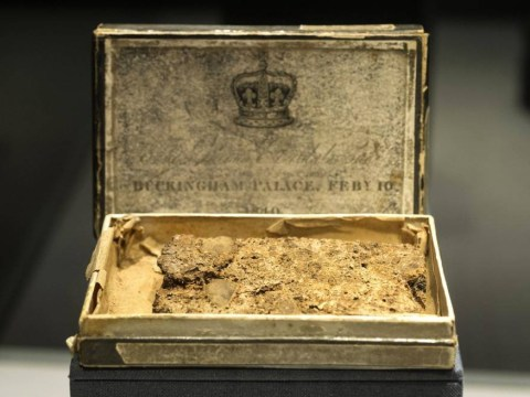 Queen Victoria's wedding cake goes on display at Christie's auction rooms – and yes, it's 175-years-old
